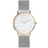 Max Max 三秒翻轉你的時尚腕錶禮盒-銀X玫瑰金X小