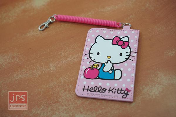 Hello Kitty 新一代 伸縮證件套 蘋果點點