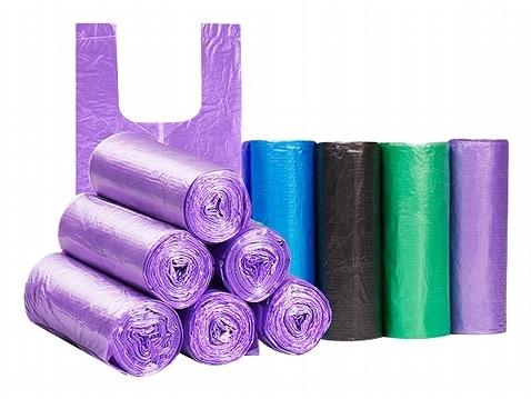 輕量手提式背心塑膠袋/垃圾袋(20入x5捲) 顏色隨機出貨【小三美日】