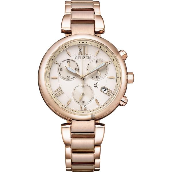 CITIZEN 星辰 XC 情人節推薦款 光動能計時女錶-35mm(FB1452-58W)
