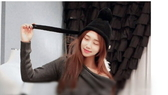 韓國秋冬天捲邊球球針織帽毛線帽子韓版保暖護耳帽飛行帽潮女超取4-7天