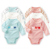 【618好康又一發】純棉嬰兒衣服連體衣寶寶三角哈衣包屁衣純棉