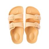HOLA 兒童室內舒足童拖鞋-黃16