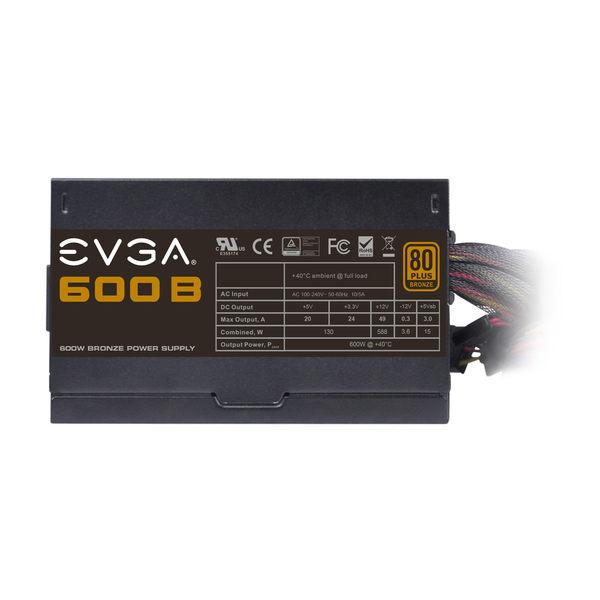 艾維克EVGA銅牆鐵壁600W B1 80PLUS 銅牌電源供應器
