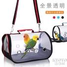 鸚鵡外出包便攜籠透明旅行包鳥箱鳥用品小太陽八虎皮牡丹小型YJT 【快速出貨】