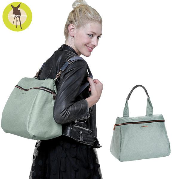 德國Lassig-多功能復刻版媽媽包-薄荷綠