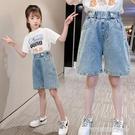 女童牛仔短褲2020夏季外穿五分褲薄款百搭兒童短褲洋氣女孩寬管褲 Cocoa