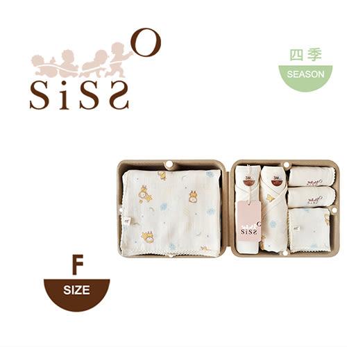 【SISSO有機棉】雲朵飛飛舒棉紗布七件組禮盒