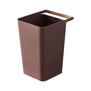【Incare】北歐簡約木質手提垃圾桶(2入組)咖啡色X2