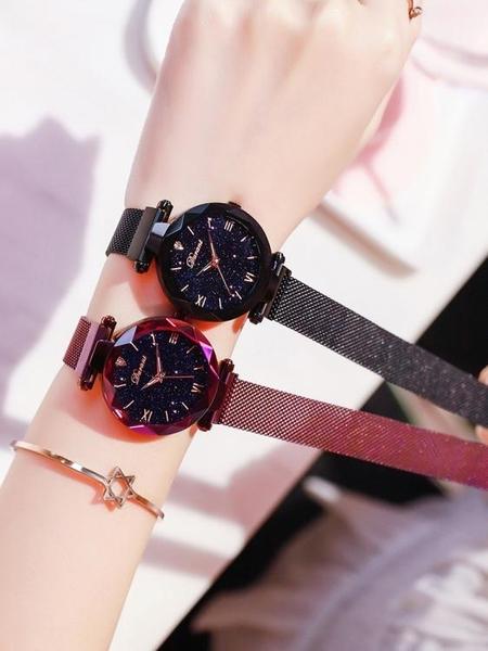 手錶星空女士手錶女錶2020時尚潮流防水同款抖音網紅簡約2號3春季新品