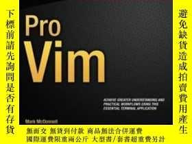 二手書博民逛書店Pro罕見Vim-親維姆Y436638 Mark Mcdonnell Apress, 2014 ISBN:97