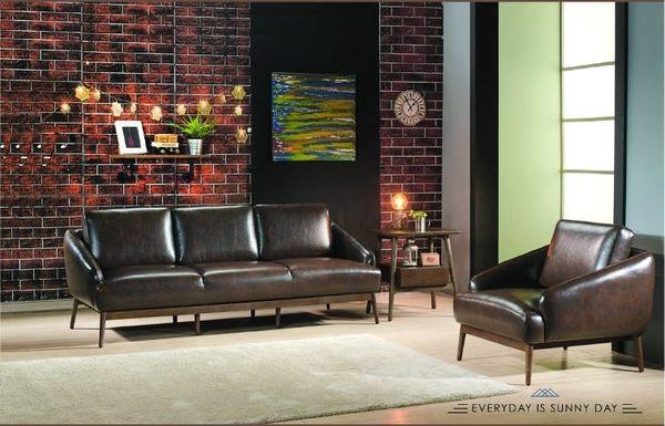 【南洋風休閒傢俱】沙發系列-藍山皮沙發組 多件沙發組 復古工業風沙發 JX142