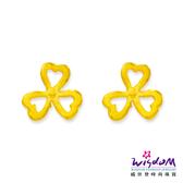 威世登 黃金花型貼耳耳環 金重約0.27~0.29錢 送禮推薦 生日 情人節 GF00287-FXX-EHX