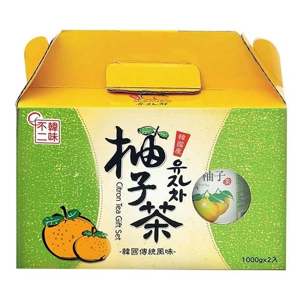【 現貨 】 韓味不二柚子茶飲組 1公斤 X 2入