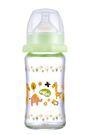 【奇買親子購物網】Nac Nac 吸吮力學寬口耐熱玻璃奶瓶240ml