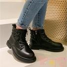 兒童馬丁靴寶寶短靴加絨秋冬英倫風女孩靴子【聚可愛】