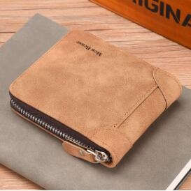 男士錢包短款青年學生拉鏈個性多功能卡包一體男式皮夾子橫款錢夾 創意新品
