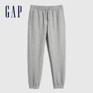Gap女裝 碳素軟磨系列 簡約鬆緊休閒褲 658952-淺灰色
