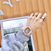 方形手錶手錶女ins風少女可愛韓版簡約高中學生獨角獸方形防水數字電子錶 玩趣3C