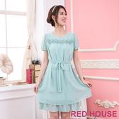 【RED HOUSE 蕾赫斯】立體花朵珍珠洋裝(共二色)