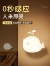 智慧人體自動感應小夜燈充電式臥室床頭過道廁所衛生間專用墻壁燈