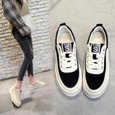 厚底鬆糕跟中跟學生休閒鞋時尚小白鞋女板鞋潮優家小鋪