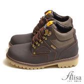 專櫃女鞋 異材質拼接綁帶靴-艾莉莎Alisa【2461464】咖啡色下單區