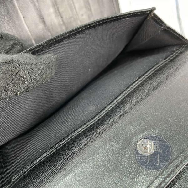 BRAND楓月 CHANEL 香奈兒 12開 經典 熱門 黑色 羊皮 雙C銀扣 翻蓋 三折 COCO長夾 皮夾