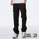 【7225】多口袋斜紋布伸縮休閒長褲(深灰)● 樂活衣庫