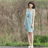 雙12鉅惠 森女棉麻料女裝透氣棉麻布衣無袖打底吊帶背心裙簡約原創春夏新款