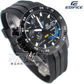 EDIFICE EFR-558BP-1A 急速 三眼多功能計時碼錶 賽車男錶 膠帶 EFR-558BP-1AVUDF CASIO卡西歐