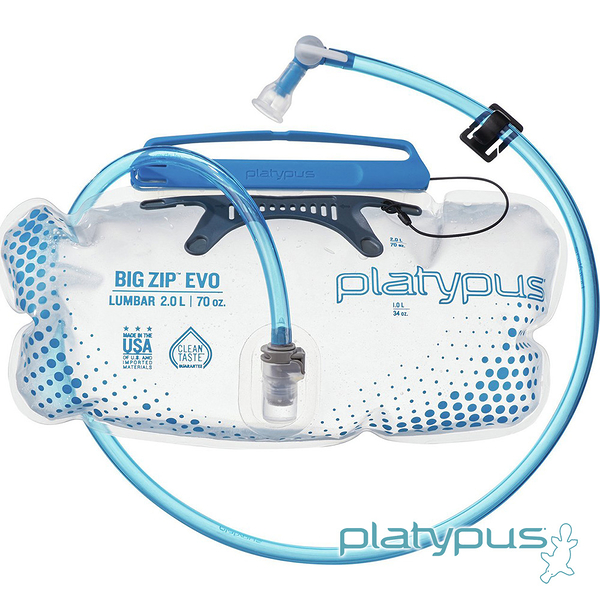 【Platypus】Big Zip EVO 橫式大開口吸管水袋 2.0L 10860 水袋 吸管水袋 馬拉松 路跑 自行車 登山