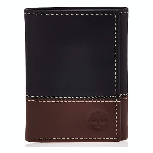 Timberland-時尚ID窗三折皮夾(黑色/棕色)