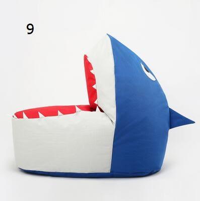 休閑小沙發榻榻米豆袋兒童卡通布藝鲨魚懶人沙發創意單人(-2)-炫彩腳丫折扣店