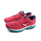 美津濃 Mizuno WAVESKY 慢跑鞋 運動鞋 網布 紅色 女鞋 J1GD170239 no043