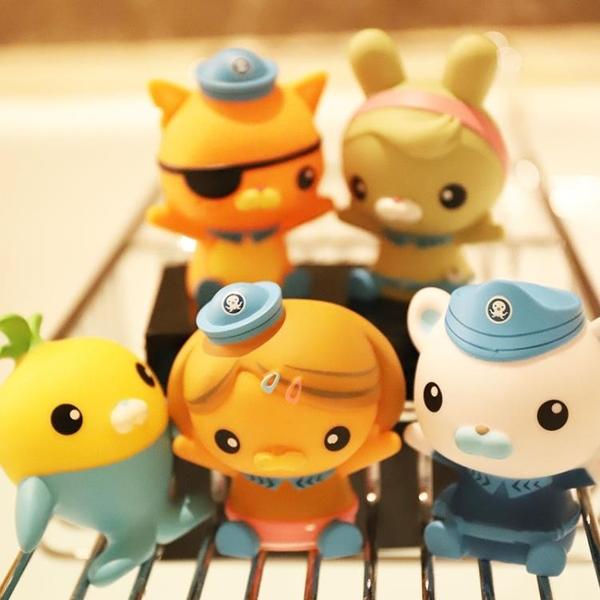 海底小縱隊捏捏叫噴水戲水洗澡玩具嬰幼兒童寶寶漂浮軟膠