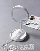 LED智慧補光便攜可折疊雙面帶燈光化妝梳妝美容鏡檯燈小夜燈0.45 交換禮物