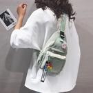 胸包 胸包女斜背ins潮百搭2020新款包包側背包帆布包女韓版個性風背包 漫步雲端