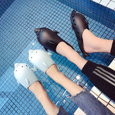 拖鞋女夏室內浴室情侶家居防滑洗澡涼拖鞋家用男托鞋親子一家三口   初見居家