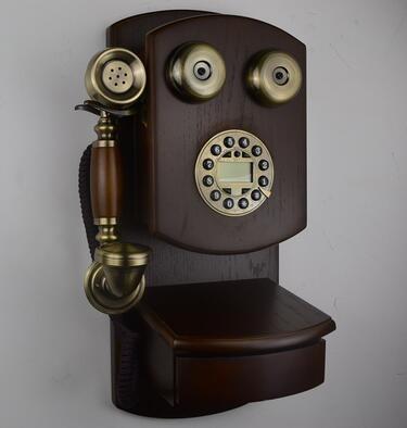 設計師美術精品館歐式 復古電話 壁掛式電話機 掛式電話機 金屬轉盤撥號【按鍵撥號(來電)】