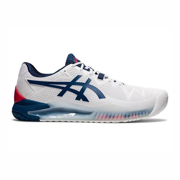 Asics Resolution 系列 [1041A113-103] 男鞋 網球鞋 避震 穩定 支撐 亞瑟士 白 深藍