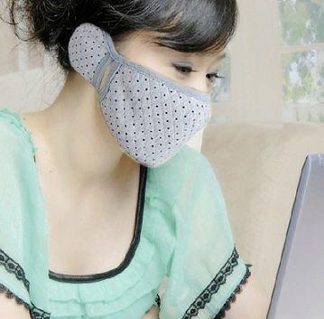 保暖 加厚護耳套 +口罩 二合一(成人-女款)【現貨+預購  不挑款出貨】
