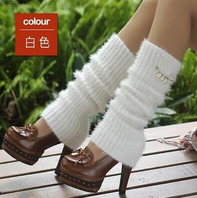護腿襪套女過膝襪子襪筒韓國秋冬保暖羊毛堆堆襪冬季加厚時尚腿套