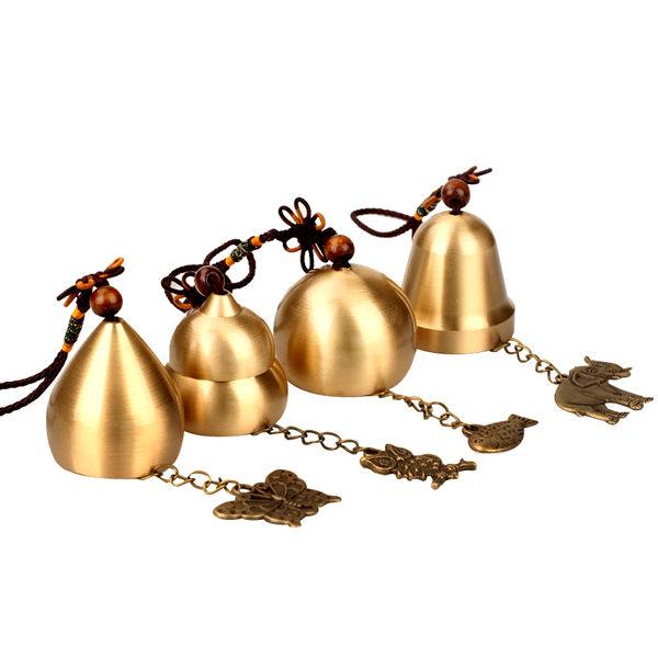 風水合金風鈴擺件大象蝴蝶貓頭鷹小魚鈴鐺掛件家居飾品銅鈴