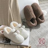 棉拖鞋女家居冬天毛絨室內家用情侶冬季月子鞋【櫻田川島】