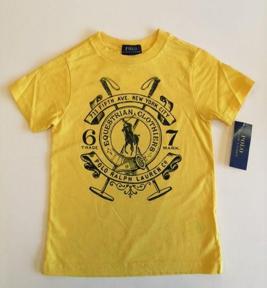 Ralph Lauren Polo短袖上衣 Logo系列馬球具圖案黃色設計款短袖T恤