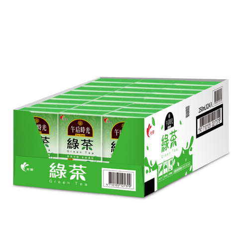 光泉午后時光-綠茶250ml*24【愛買】