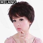 假髮(短髮)-高檔逼真蓬鬆斜瀏海女假髮2色73em45【時尚巴黎】