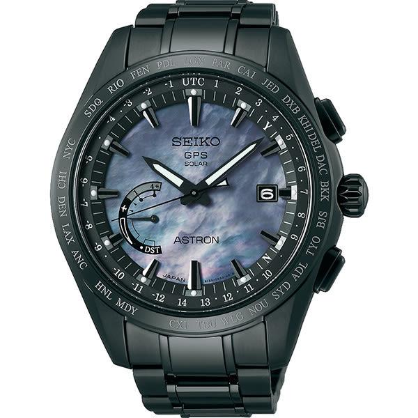 送鱷魚皮錶帶 SEIKO ASTRON GPS 鈦衛星太陽能限量電波套錶-45mm 8X22-0AF0SD(SSE091J1)