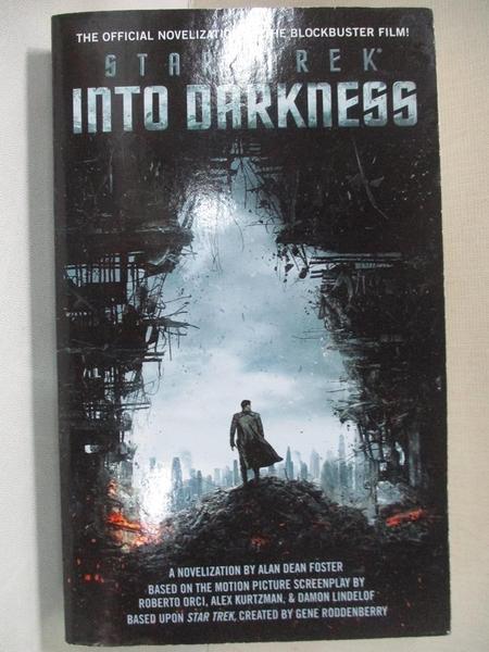 【書寶二手書T9/原文小說_C28】Star Trek Into Darkness_Alan Dean Foster